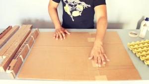 آموزش ساخت شلف دیواری با مقوا و کارتن