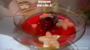 طرز تهیه ژله لیوانی
