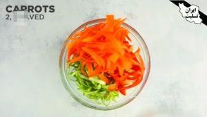 طرز تهیه سالاد ماکارونی با سبزیجات