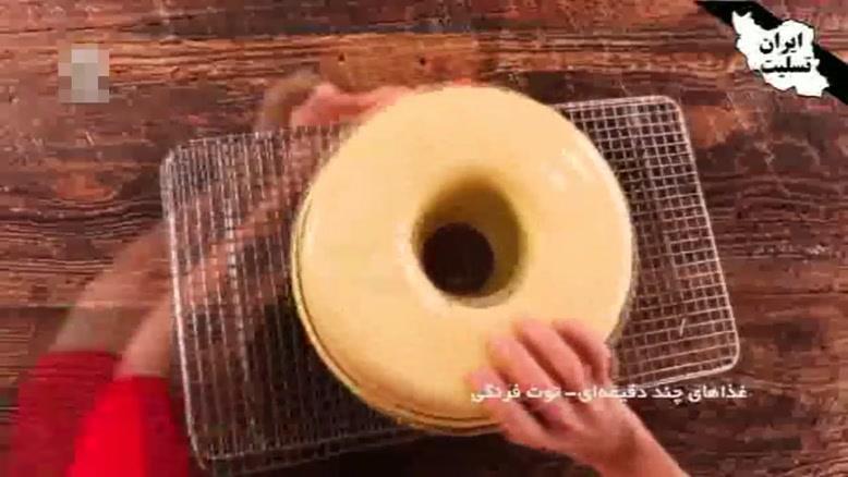 طرز تهیه کیک با مارمالاد توت فرنگی