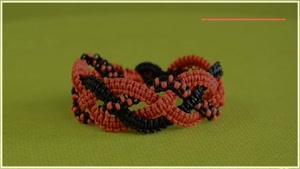 ترفندهای بافت دستبندهای زیبای دخترونه-مکرومه بافی