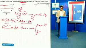 تدریس کامل بهینه سازی در ریاضی دوازدم تجربی از علی هاشمی
