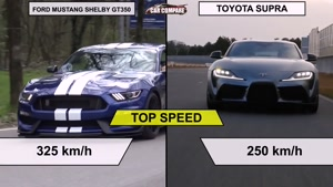 Ford Mustang Shelby GT۳۵۰ vs Toyota Supra