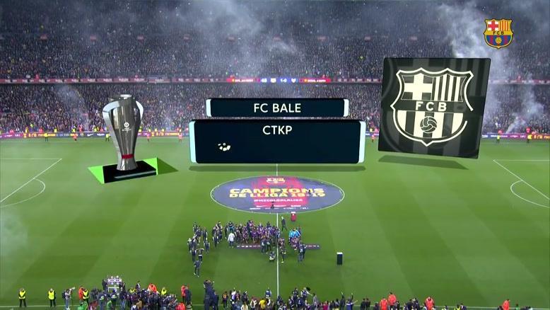 جشن قهرمانی بارسلونا در لالیگا