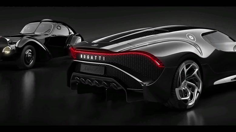 بوگاتی سیاه گرانترین خودروی جهان با مالکی نامعلوم