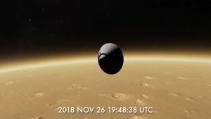 نحوه ی نشستن کاوشگر  اینسایت ناسا بر روی مریخ