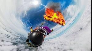 منفجر شدن چتر نجات در ارتفاع ۴۰ کیلومتری سطح زمین