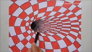 نقاشی سه بعدی با ایجاد خطای دید