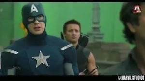 قسمت هایی از پشت صحنه ی فیلم Avengers