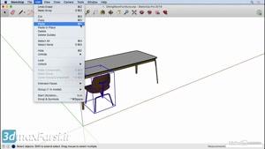 آموزش نرم افزار  اسکچاپ SketchUp ۲۰۱۹ Creating copies and an arra