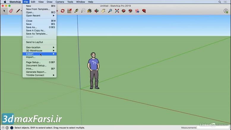 فیلم آموزش اسکچاپ SketchUp ۲۰۱۹ Basics Mac interface