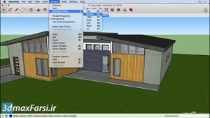 آموزش کمرا ویو اسکچاپ SketchUp ۲۰۱۹ Standard camera views