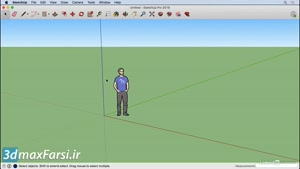 فیلم آموزش اسکچاپ SketchUp Interface ۲۰۱۹  axis