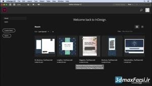 دانلود رایگان آموزش ایندیزاین سی سی  InDesign CC Getting started