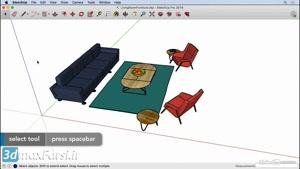 دانلود رایگان فیلم آموزش اسکچاپ SketchUp Select tool