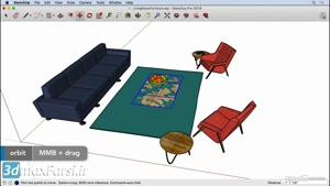 آموزش مبتدی نرم افزار اسکچاپ SketchUp Move tool