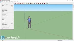 آموزش گام به گام اسکچاپ SketchUp ۲۰۱۹ Basics for using a Windows inter
