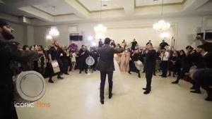 لحظه ورود عروس در یک عروسی لبنانی
