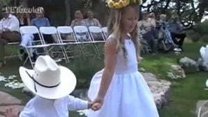 ویدیویی جالب از ساقدوش های خردسال مراسمات عروسی