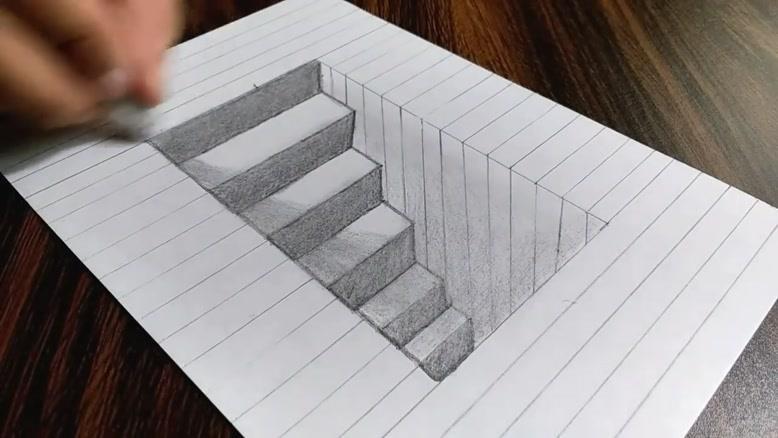 نقاشی ساده سه بعدی