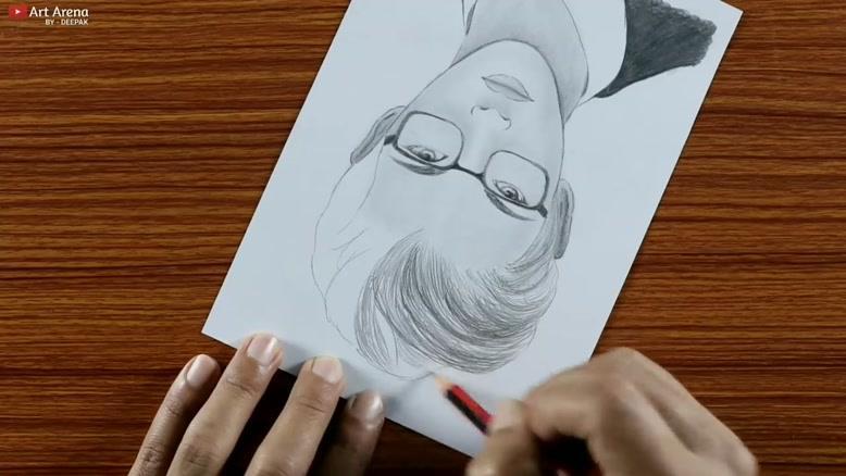چگونه نقاشی پسری که عینک زده است را بکشیم؟