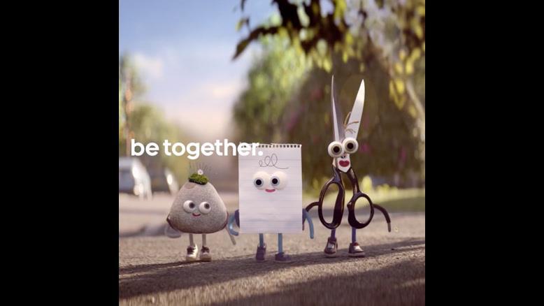 با هم بودن را از سنگ، قیچی و کاغذ یاد بگیرید!