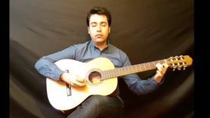 اجرای زیبای قطعه speak softly love  توسط استاد امیر کریمی