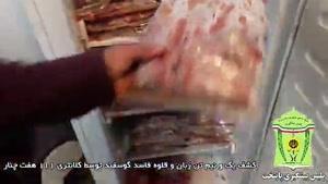 فیلمی از گوشت های فاسد کشف شده امروز پایتخت