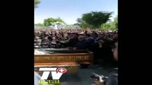 فیلم تشییع پیکر بهنام صفوی در اصفهان