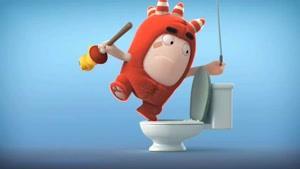 انیمیشن Oddbods - فیوز و باز کردن چاه توالت