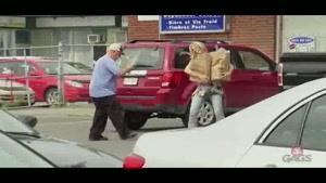 دوربین مخفی خنده دار دزد ماشین