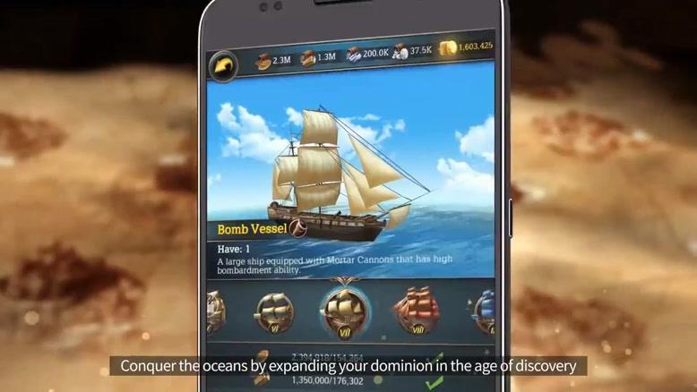 تریلر بازی موبایل  Oceans & Empires