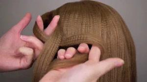 آموزش بافت موی مجلسی به روش حلقه ای
