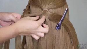 آموزش یک سبک بسیار زیبای بافت مو برای رفتن به میهمانی