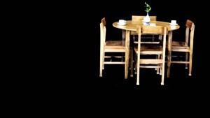 میز نهار خوری ۴ نفره گرد