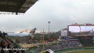 تماشا - اژدهای آتشین در افتتاحیه بیسبال کره جنوبی