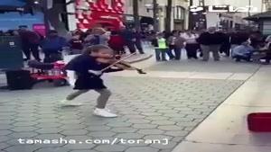 تماشا - نوازندهی خیابانی فقط ایشون
