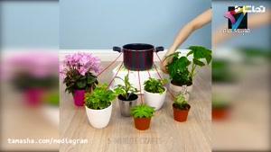 تماشا - آموزش ساخت گلدان با کمترین امکانات