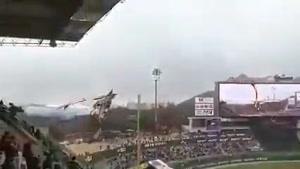اژدهای آتشخوار در افتتاحیه بیسبال کره جنوبی