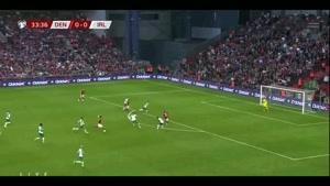 خلاصه بازی ایرلند - دانمارک