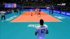 ست دوم والیبال ایران - فرانسه