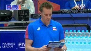 ست اول والیبال ایران - روسیه