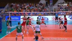 ست سوم والیبال ایران - بلغارستان