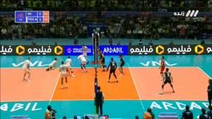 ست سوم والیبال ایران - فرانسه