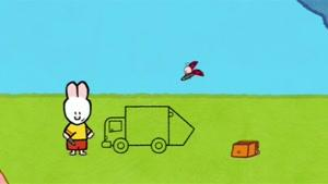 انیمیشن آموزش زبان انگلیسی  LOUIE THE DRAWING BUNNY قسمت هجده
