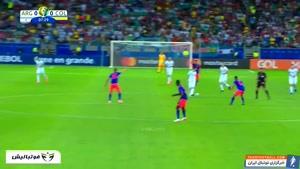 عملکرد لیونل مسی در دیدار آرژانتین برابر کلمبیا مرحله گروهی کوپا
