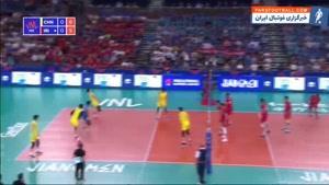 خلاصه بازی چین ۰ - ۳ ایران ؛ لیگ ملتهای والیبال ۲۰۱۹