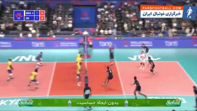 خلاصه بازی والیبال ایران 2-3 برزیل