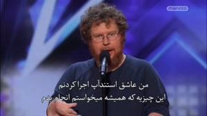 اجرای خنده دار کمدین در american got talent