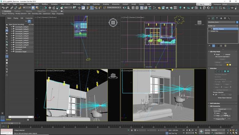 آموزش جامع کرونا برای ۳ds max - روشنایی و GI قسمت ده